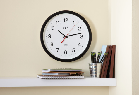 found on http://www.sharperimage.com/si/view/product/Radio-Controlled-Atomic-Wall-Clock/200648