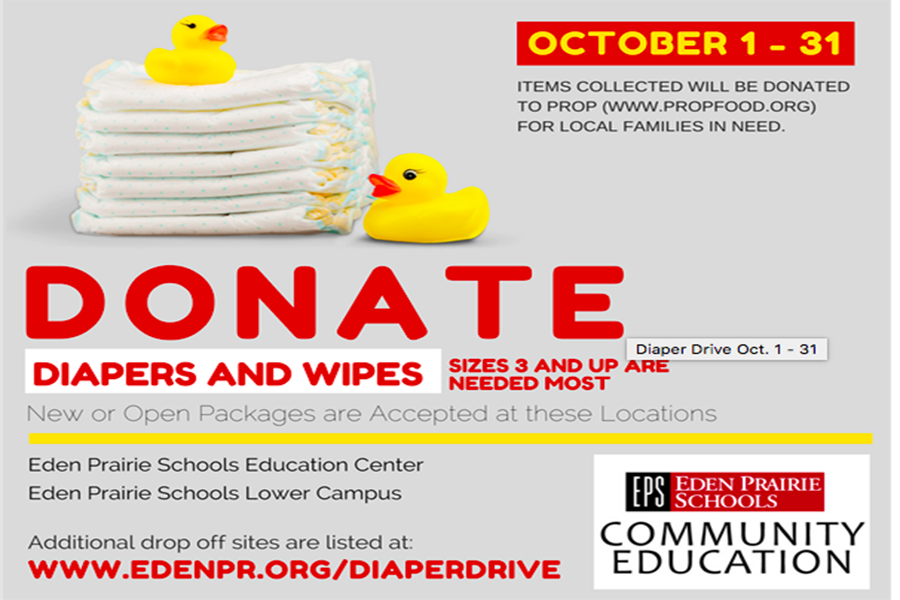 Eden Prairie Schools diaper drive