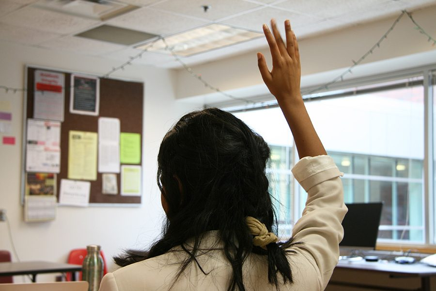 hand raising photo