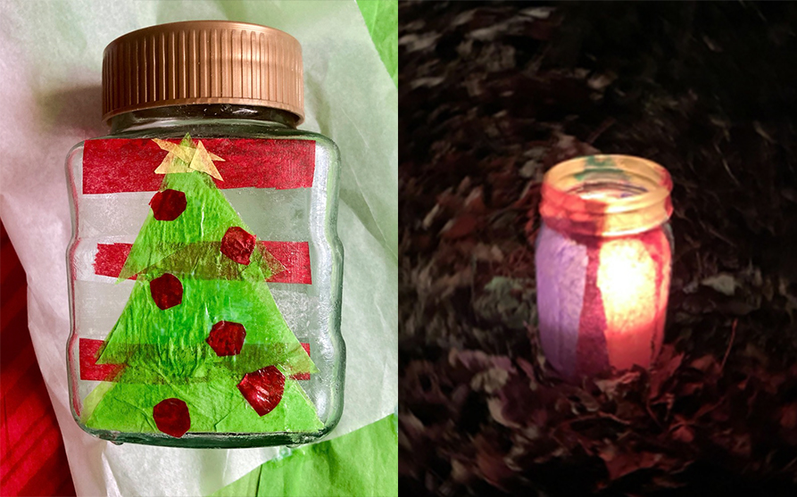 Light Up Your Holidays With DIY Tissue Paper Lanterns