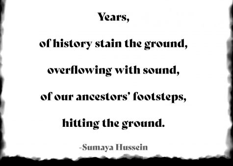 The first stanza of Hussein's poem. Read the  full poem below.